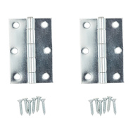 National Hardware N142-034 S752-390 Removable Pin Narrow Hinges 3 By 2 Inch Zinc Plated Steel 2 Pack