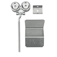 National Hardware N145-581 Flexible Box Rail Hangers With 1/2 Inch Offset 9 Inch Bolts Plus End Caps & Flashing Brackets 2 Pack
