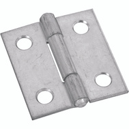 National Hardware N145-912 Non-Removable Pin Narrow Hinge 1 Inch Zinc Plated