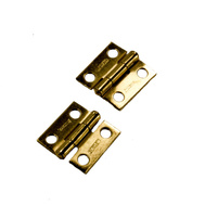 National Hardware N145-946 1 Inch By 1 Inch Narrow Hinges With Non-Removable Pin Brass Finish 2 Pack