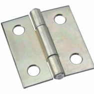National Hardware N146-035 Non-Removable Fixed Pin Narrow Hinge 1-1/2 By 1-3/8 Inch Zinc Plated Steel Bulk