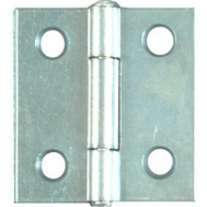 National Hardware N146-043 S751-560 N227-231 Non Removable Pin 1-1/2 Inch Zinc Narrow Hinges 2 Pack
