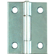 National Hardware N146-159 Non-Removable Fixed Pin Narrow Hinges 2 By 1-9/16 Inch Zinc Plated Steel 2 Pack