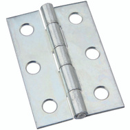 National Hardware N146-241 S113-700 Non-Removable Fixed Pin Narrow Hinge 2-1/2 Inch Zinc Plated Steel Bulk