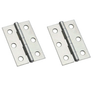 National Hardware N146-258 Non-Removable Fixed Pin Narrow Hinges 2-1/2 By 1-11/16 Inch Brass Finish Steel 2 Pack