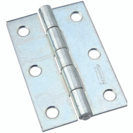 National Hardware N146-365 S113-900 Non-Removable Fixed Pin Narrow Hinge 3 By 2 Inch Zinc Plated Steel Bulk
