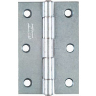National Hardware N146-373 Non-Removable Fixed Pin Narrow Hinges 3 By 2 Inch Zinc Plated Steel 2 Pack
