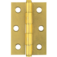 National Hardware N146-753 Loose Pin Cabinet Hinges 2-1/2 By 1-11/16 Inch Overall Brass Finish Steel 2 Pack