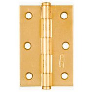 National Hardware N146-852 3 Inch Dull Brass Finish Cabinet Hinges 2 Pack