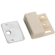 National Hardware N149-815 N149-823 Magnetic Catch Offset Mount With Strike 1 Inch White