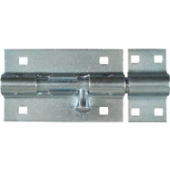 National Hardware N151-118 Extra Heavy Padlockable Barrel Bolt 5 Inch Zinc Plated Steel