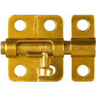 National Hardware N151-266 2 Inch Window Bolt Brass Finish