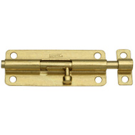 National Hardware N151-761 Barrel Bolt 5 Inch Brass Finish