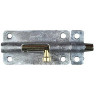 National Hardware N151-894 Barrel Bolt 4 Inch Galvanized Steel With Brass Pin