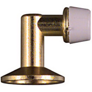 National Hardware N154-500 Floor Mount Screw Drive Door Stop Bright Brass