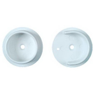 National Hardware N154-567 Plastic Closet Pole Socket White