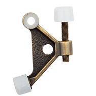 National Hardware N159-046 Textured Hinge Pin Door Stop Antique Brass