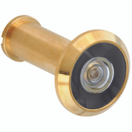 National Hardware N162-362 Door Viewer 200 Degree Wide Angle Polished Solid Brass