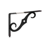 National Hardware N235-077 N229-427 Ornamental Shelf Bracket 8 By 5-1/2 Inch Antique Black