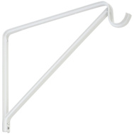 National Hardware N224-501 N241-158 Shelf And Rod Bracket White Baked Enamel