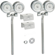 National Hardware N174-284 Box Rail Hangers With Steel Roller Bearings 9 Inch Offset Bolts 600 Lbs. Pair Rated