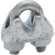 National Hardware N248-278 N268-466 Wire Cable Clamp 1/8 Inch Zinc Plated Malleable Iron Bulk