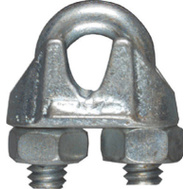 National Hardware N248-286 N268-474 Wire Cable Clamp 3/16 Inch Zinc Plated Malleable Iron Bulk