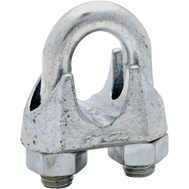 National Hardware N248-344 N268-524 Wire Cable Clamp 3/4 Inch Zinc Plated Malleable Iron Bulk