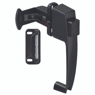 National Hardware N178-350 Push Button Door Latch Satin Black