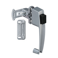 National Hardware N178-368 S748-259 Push Button Storm Door Latch Aluminum Finish