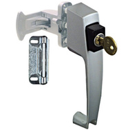 National Hardware N178-384 Push Button Storm Door Key Latch Aluminum