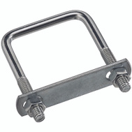 National Hardware N222-356 N134-240 Square U-Bolt, Plate & Nuts 5/16 Inch By 2 Inch By 3 Inch Zinc Plated Steel