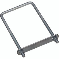 National Hardware N222-406 N134-290 Square U-Bolt, Plate & Nuts 3/8 By 4 By 7 Inch Zinc Plated Steel