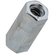 National Hardware N182-659 N347-021 Threaded Rod Coupler #10 24 TPI Zinc Plated Steel