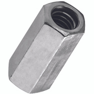 National Hardware N182-667 N347-039 Threaded Rod Coupler 1/4 Inch 20 TPI Zinc Plated Steel