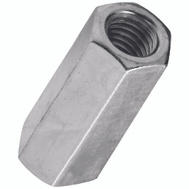 National Hardware N182-691 N347-062 Threaded Rod Coupler 7/16 Inch 14 TPI Zinc Plated Steel