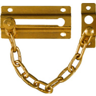National Hardware N183-590 Door Chain Door Guard Brass Plated Steel