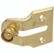 National Hardware N183-715 Window Vent Stops Steel Brass Finish 2 Pack