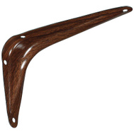 National Hardware N185-017 N235-358 Utility Shelf Bracket 4 By 6 Inch Fruitwood