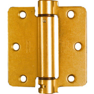National Hardware N185-199 Spring Door Hinge 3-1/2 Inch 1/4 Radius Brass