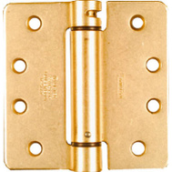 National Hardware N185-207 4 Inch 1/4 Radius Spring Door Hinge Brass