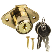 National Hardware N185-298 Drawer Lock Keyed Alike 3/4 Inch Brass Plated Die Cast Zinc