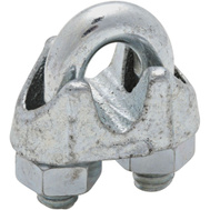 National Hardware N186-650 Wire Cable Clamp 1/4 Inch Zinc Plated Malleable Iron Bulk