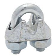National Hardware N186-692 Wire Cable Clamps 3/16 Inch Zinc Plated Malleable Iron 2 Pack
