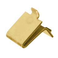 National Hardware N189-183 Shelf Support Clips For Pilasters Brass Loose