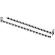 National Hardware N189-621 Adjustable Closet Rod With Ends 18 Inch To 30 Inch Nickel Plated Steel