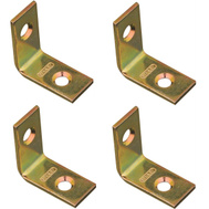National Hardware N190-819 Corner Braces 1 By 1/2 By 0.07 Inch Brass Finish Steel 4 Pack