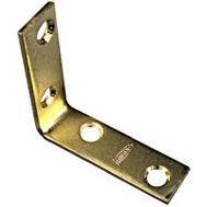 National Hardware N190-835 Corner Braces 2 By 5/8 By 0.08 Inch Brass Finish Steel 4 Pack