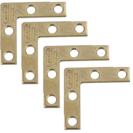 National Hardware N190-868 S839-050 Flat Corner Iron Braces 1-1/2 By 3/8 By 0.07 Inch Brass Finish Steel 4 Pack