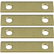 National Hardware N190-892 2 By 1/2 Inch Bright Brass Finish Mending Plate 4 Pack